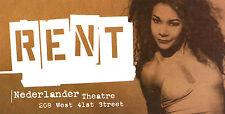 "Daphne Rubin Vega ""RENT"" Jonathan Larson 1996 New York City Taxi Signage"