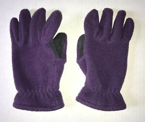 EMS VTG Eastern Mountain Sports Purple Fleece Gloves MEN'S Medium M HIKE CAMP