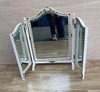Vintage White Painted Vanity Mirror