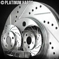 For 1995-2004 Toyota Tacoma Front HartBrakes Brake Rotors+Ceramic Pads
