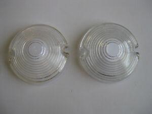 1953 53 CHEV CLEAR GLASS PARK LIGHT LENSES NEW CHEVY CHEVROLET BELAIR