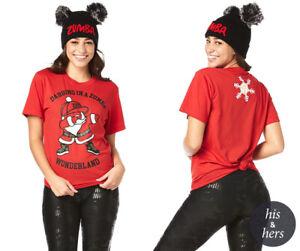 Zumba Wonderland Unisex Tee Shirt ~ Red ~ size XS/S & M/L ~ New! Free Shipping!
