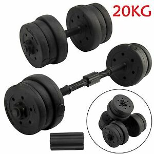 20Kg Dumbells Pair of Gym Weights Barbell/Dumbbell Body Building Free Weight Set