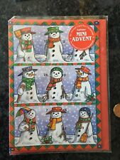Vintage Advent Calendar Lot 5 England Old World Santa Snowman Mice New Sealed