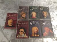 ❤️Lot of 7 Classical Music Cassette Tapes EUC