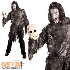 Lord Gruesome Mens Fancy Dress Halloween Undead Zombie Adults Costume Outfit New