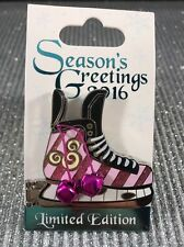 Disney Season's Greetings 2016 Ice Skate Pins LE 6000 Cheshire Cat Disneyland