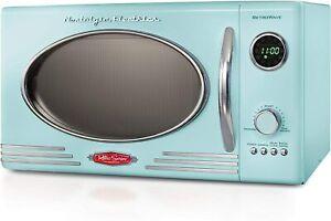 Nostalgia Rmo4Aq Retro Large 0.9 Cu Ft, 800-Watt Countertop Microwave Oven, 12 P