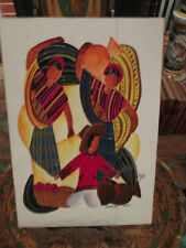 Vintage 1940's Painting From Guatemala by Montez