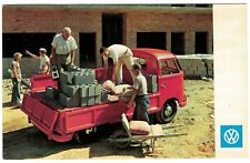 Official Vintage VW Working Truck Advertising Postcard