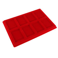 8 Grid Velvet Frame Series Display Tray Coin Holder for PCGS/NGC/PCCB -Red