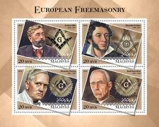Maldives Freemasons Stamps 2018 MNH Alexander Fleming Roald Amundsen 4v M/S