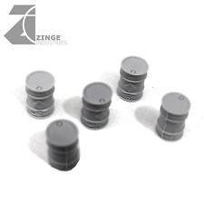 Zinge Industries - True Scale 28mm Oil Barrels - Sprue of 5 S-TSB01