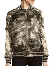 MEMBERS ONLY Floral Printed Reversable Bomber Jacket Size M
