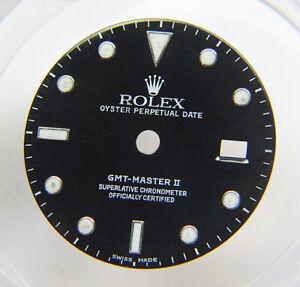 Genuine Rolex GMT-Master II 16710 16760 Glossy Black Watch Dial SWISS MADE