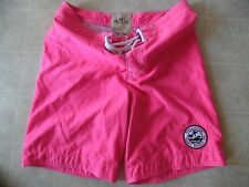 Hollister Mens Campus Fit Shorts Beach Short Pink Large