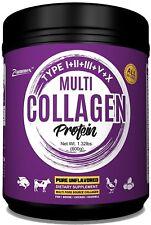 Zammex Premium Multi-Collagen Protein Powder 21 oz High Quality Blend Unflavored