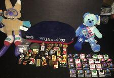1980-02 Summer Winter Olympics Lot Pins Plush Bear Mascot Roots Beret Program