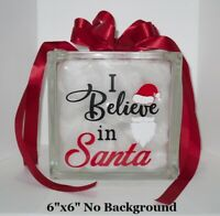 "I believe in Santa beard cute Christmas Vinyl Decal Sticker for 8"" block"