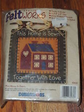DIMENSIONS FELT WORKS APPLIQUE KIT THIS HOME IS SEWN 8X8 BANNER #62032