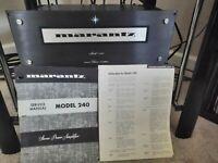 Marantz model 240 BLK power amplifier very rare