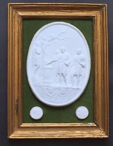 Grand Tour style framed plaster intaglios, neoclassical