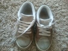 Mens Green Beige Airwalk Suede Leather Shoes Trainers Size 7.5