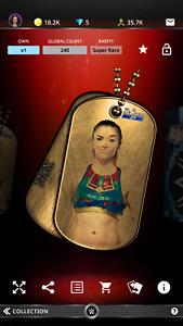 Topps WWE Slam Tegan Nox Name Dog Tags 21 S1 Gold Super Rare
