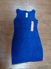 TIANA B. women's NWT sz S royal blue sleeveless $98 above the knee dress