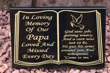 Grave stone plaque headstone gravestones memorial stone own words