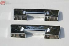 "Chevy GM Front Interior Inside Chrome Arm Rest Pad 13"" Bases Pair Set Of 2 Two"