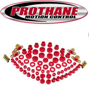 Prothane 1-2003 1980-1986 Jeep CJ5 CJ7 Complete Suspension Bushing Kit Red Poly