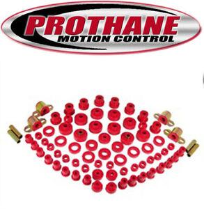 Prothane 1-2003 1980-1986 Jeep CJ5 CJ7 Complete Suspension Bushing Kit Red Poly