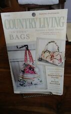 Oop Amy Butler Country Living in town bags drawstring handbag purse pattern NEW