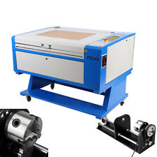 80W CO2 Laser Engraving Cutting Machine Engraver cutter 700*500mm W/ CNC Rotary