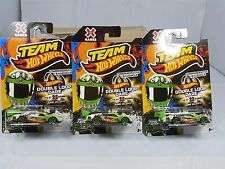2012 Team Hot Wheels Commemerative  X Games Double Loop Dare car lot of 3