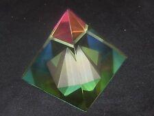 BEAUTIFUL LEAD CRYSTAL PYRAMID GLASS PRISM MEDIUM VITRAIL 60 MM SUN RAINBOWS