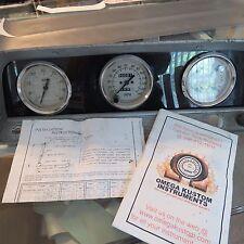 1964-1966 chevy pickup dash instrumental panel cluster w/new omega kustom gauges