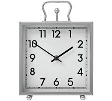 Heart of House Tuscany Square Mantel Clock Practical And Refined Mantel Silver