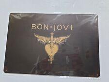 More details for bon jovi metal sign plaque american rock band
