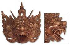 Indonesian Wood Mask 'Epic Monkey King' Wall Sculpture Hand Carved NOVICA Bali