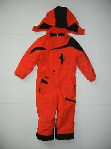 SPYDER Bright Red/Black Warm WINTER SNOW SUIT Ski Snowboard Kid Sz 4T Toddler