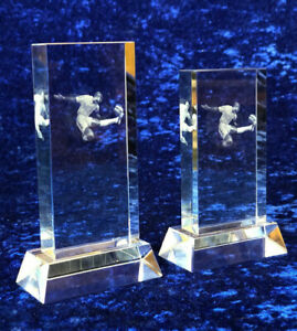 Football Glass Trophy Award Manager / Supporter Presentation Gift FREE Engraving