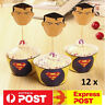 12 New Superman DC Superhero Cupcake Wrappers Toppers Party Decoration Favor