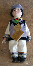 "The Prestige Collection Ming Ming 14"" Ceramic Doll Used Good Condition"