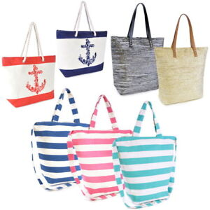 Damen Shopper Strandtasche Badetasche Henkel und Schultertasche diverse Modelle