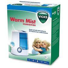 Vicks 4 Litre Warm Mist Automatic Air Humidifier Moisture Vaporiser Home - VH750