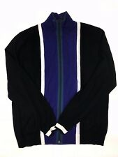 Paul Smith - Black/Multi Stripe Zip Cardigan - XL - *NEW WITHOUT TAGS* RRP £165
