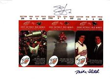 Steve Yzerman Stanley Cup Ticket Stubs photo w/Mike Ilitch - very Rare!