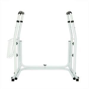 Toilet Safety Support Bar Rail Bathroom Seat Frame Medical Handicap White